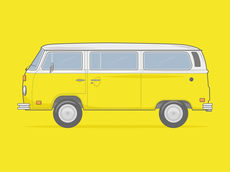 Volkswagen Microbus Illustration print design illustrator vector artwork design car movie volkswagen bus vw bus volkswagen microbus vw microbus microbus volkswagen vw vector illustrations vector illustration actor art vecor adobe illustrator abobe illustration