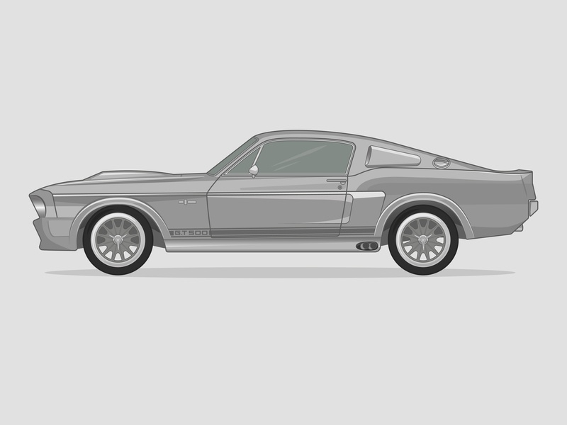 1967 Shelby GT500 by Mike Saville on Dribbble