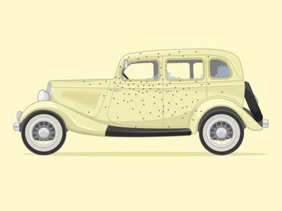 1934 Ford Deluxe V8 illustration