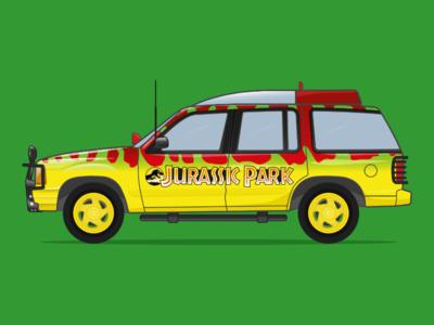 Jurrasic Park Car Illustration