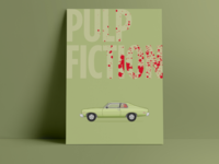 """""""Oh man I shot Marvin in the face"""" Pulp Fiction print"""