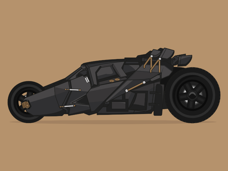 """The Tumbler from """"The Dark Knight"""" car illustration movie car the dark knight poster movie poster batman poster batmobile print batman print batmobile tumbler the dark knight batman"""