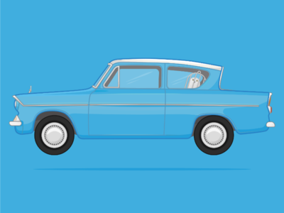 Ford Anglia from Harry Potter and the Chamber of Secrets