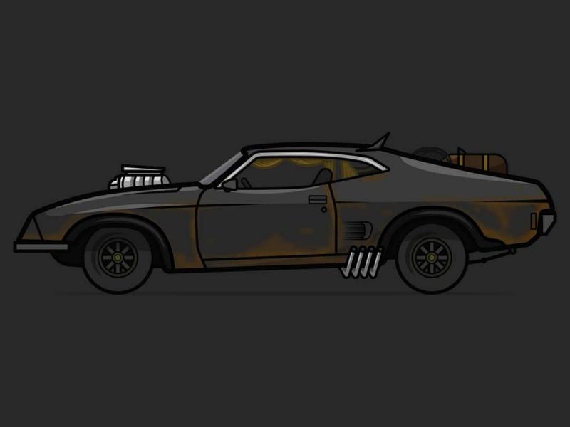 Mad Max Ford Falcon classic ford illustration classic ford ford illustration mad max illustration ford ford falcon mad max