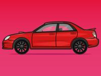 Subaru Impreza WRX from Baby Driver