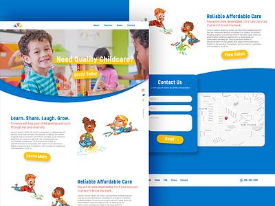 Daycare Mockup webdesign website babysitting kids daycare web ux ui design