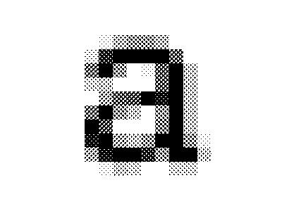 Helvetica Neue Medium – 16px pattern dots type halftone letter