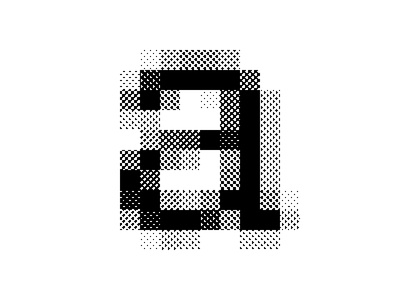 Helvetica Neue Medium – 16px pattern dots type halftone letter
