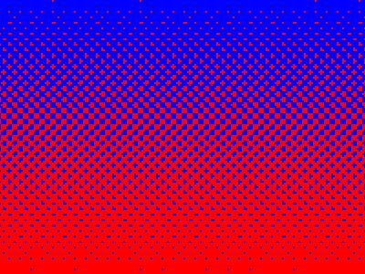Blured red blue 255 gradient closeup dots halftone