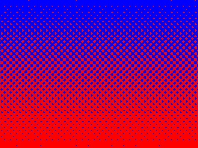 Blured red blue 255 gradient closeup dots halftone