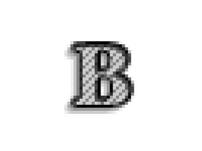 B-Baskerville square dot texture anti-alias typeface type