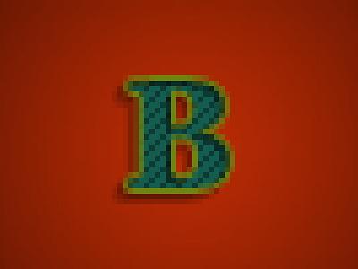 B-Baskervillee square dot texture anti-alias typeface type