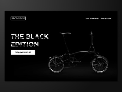 Daily UI #003 – Landing Page ui website black landing page brompton bike