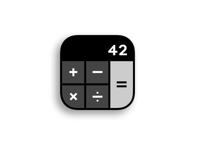 Daily UI #005 – App Icon home screen store mobile application calculator icon app