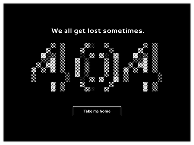 Daily UI #008 – 404 Page ux ui web white black bitmap not found page not found page 404