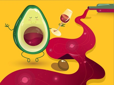 Avocado driblleshot dribbble flat design branding vector design flat illustration ipad illustration avocado dribble shot