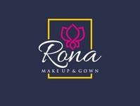 logo for Rona Makeup & Gown best logo fashion logo dribbble logos logo flat minimal myftha rochma branding logo design vector design graphic