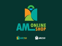 Logo for AM Online Shop web arrow style modern identity set concept illustration graphic company logotype abstract icon sign business element vector logo symbol design