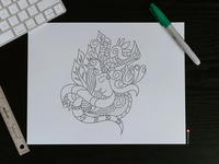 My Abstract Sketch stayhome work draw art abstract illustration branding flat vector design graphic