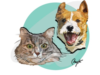 Vector Pet flat animal vectorpet pet illustration vector graphic