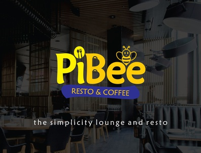 logo design for PiBee Resto and Coffee