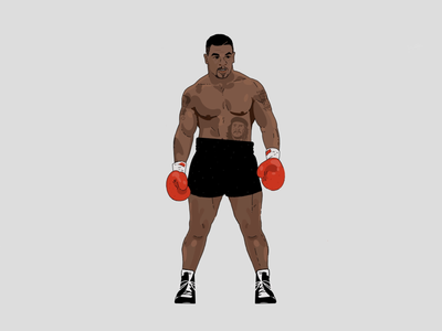 The baddest man on the planet character boxing procreate illustration mike tyson