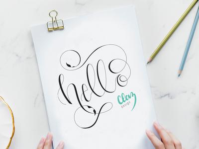 Alternate Hello + New Brand | Hand Lettering