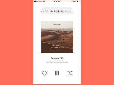 Day 2: Chameleon Radio App framer100 player music radio framer