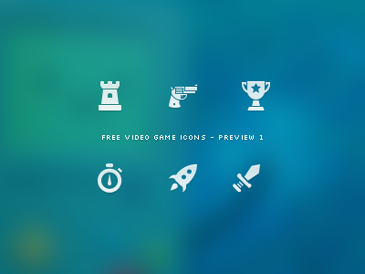 Video Game Icon Set - Preview 1 by Chris Lüders on Dribbble