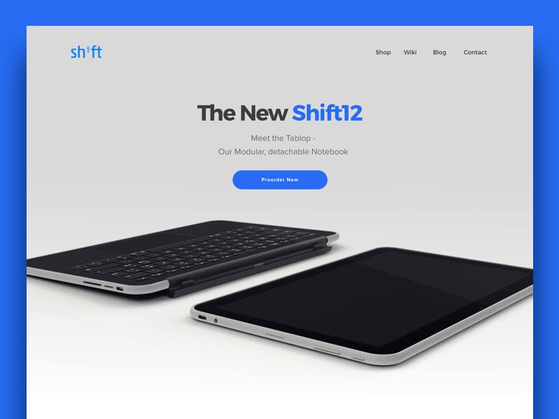 Shiftphones Redesign website webdesign notebook blue desktop mobile concept ui ux redesign shiftphones