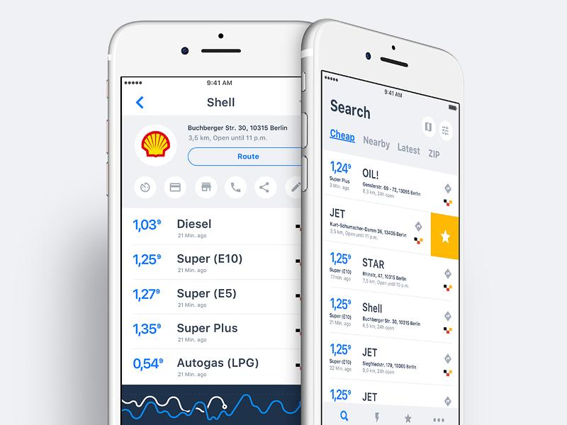 Gas Station iOS App iphone ios graph ux ui concept shell fuel app station gas station gas