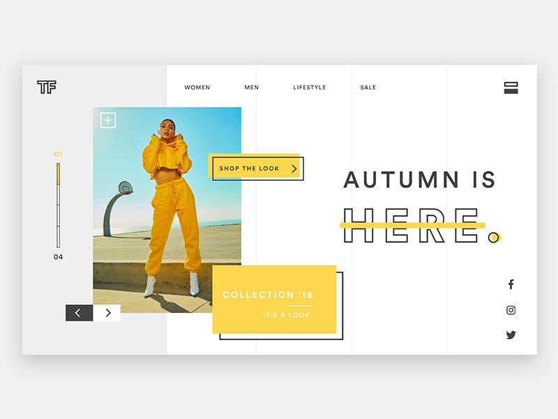 Retailer webdesign website ux ui retail model minimalism landing screen landing hero flat