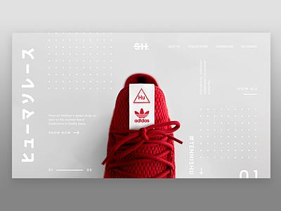 Adidas HU ux website webdesign adidas shoes unsplash ui photography minimalism landing screen landing page flat