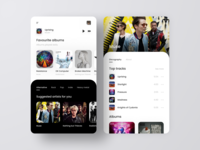 Artists for you album artist music player modern clean mobile app music appdesign design photography minimalism ux flat ui