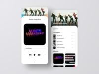 Franz Ferdinand music player ui album app mobile app music app music player music minimalism ux flat ui