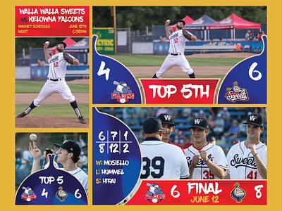 Walla Walla Sweets Design Package Demo social media design package walla walla graphic design baseball