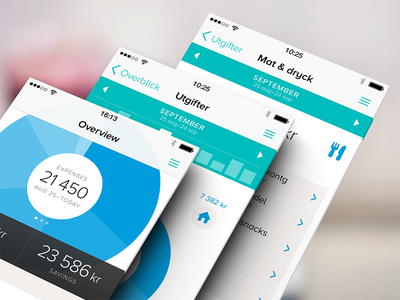 Tink for iOS 7 iphone app flat ui finance economy ios7