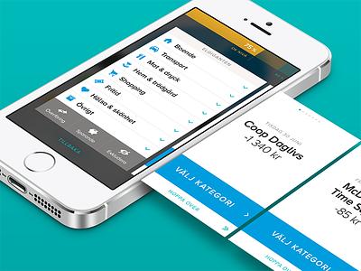 Tink - Categorization Wizard iphone app flat ui finance economy mobile