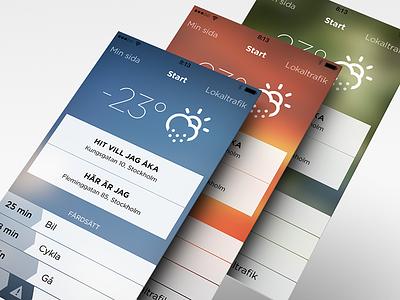 Tick-Tack iphone app flat ui travel ios7