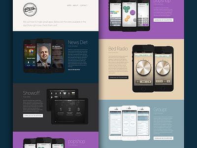 Elith Apps - Simple Web web landing design flat ui apps showcase