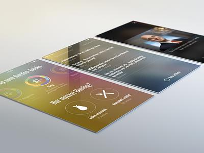 News Diet - Profile, Links & Photo iphone app ui mobile news stats