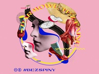 Bezspiny fashion collage art art collage pattern branding graphic design typography vector graphicdesign color illustration
