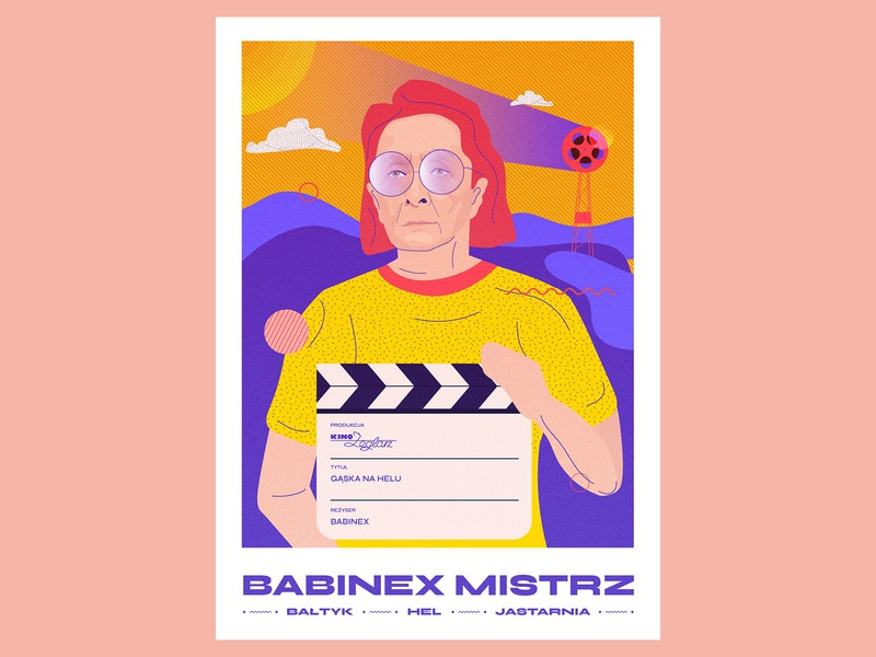 Babinex Mistrz baltic sea woman kobieta portret portrait gąska na helu branding vector color typography graphicdesign illustration