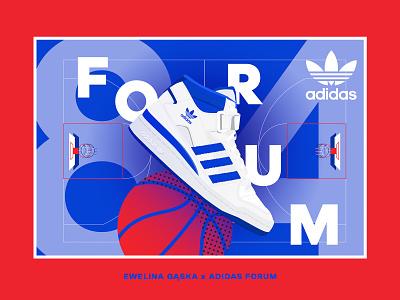 Adidas x Ewelina Gąska logo design typography color graphicdesign shoes sport adidas forum adidas mural