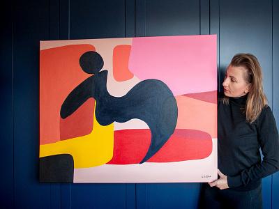 Odpoczynek 100x80 cm - obraz artist painting art brush acrylicpaints color
