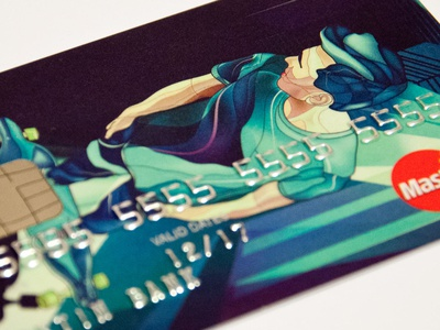 ATM card for Getin Bank webdesign graphicdesign warsaw drawing bank illustration card atm card