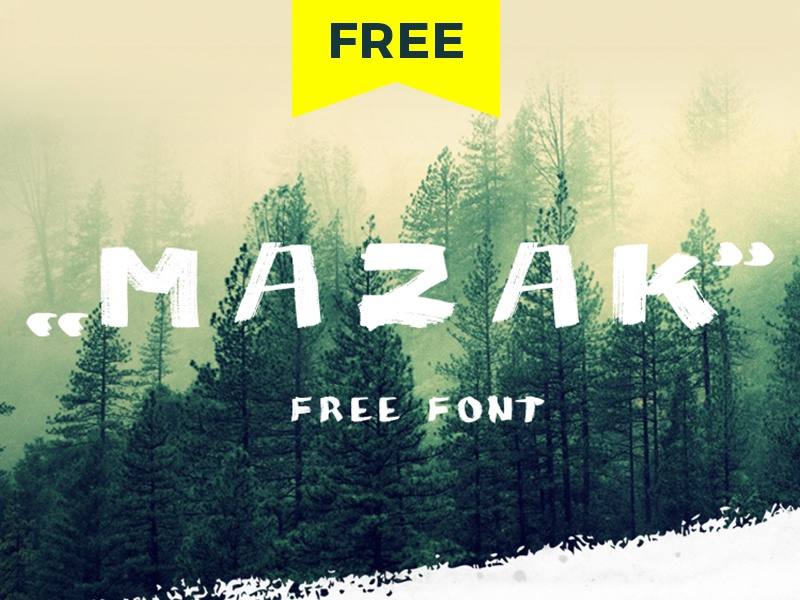 """Mazak"" Free Font brush mazak handlettering calligraphy typography font free"