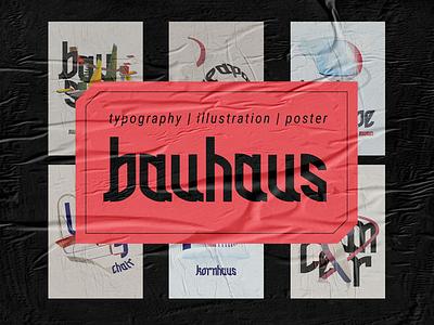 Bauhaus Typography Poster typo typography art bauhaus branding graphic design vector design typography illustration