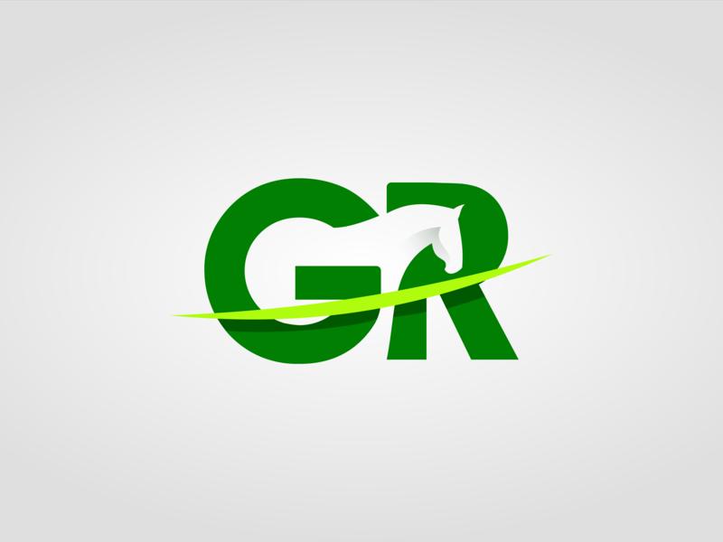 GR + Horse veterinary horse minimal lettering illustrator identity clean type vector logo letter icon graphic design branding illustration flat design