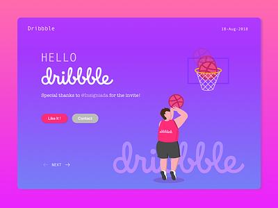 Hello Dribbble! illustration first shot debute hello dribbble